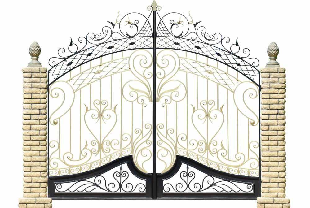 Кованые ограды могут быть чрезвычайно декоративными.
