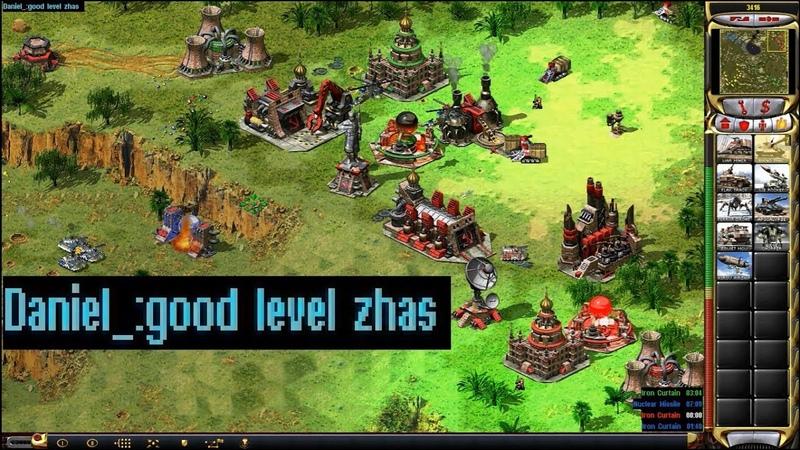 Red Alert 2 Yuri's Revenge - PRO 2 vs 2 Match on the map Jungle of Vietnam