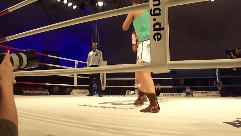 Klara Svensson vs Alexandra Gorog Round 1 - EC Boxing Cuxhaven