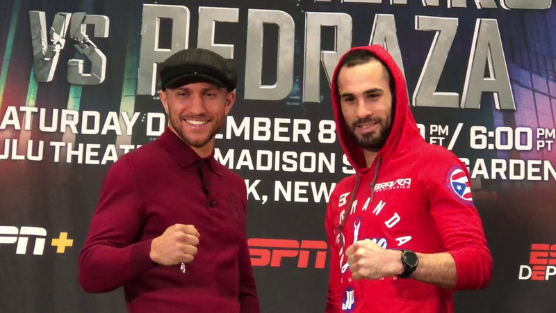 Vasyl Lomachenko vs Jose Pedraza FACE OFF
