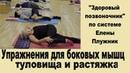 Упражнения для боковых мышц туловища и растяжка | ©Елена Плужник.