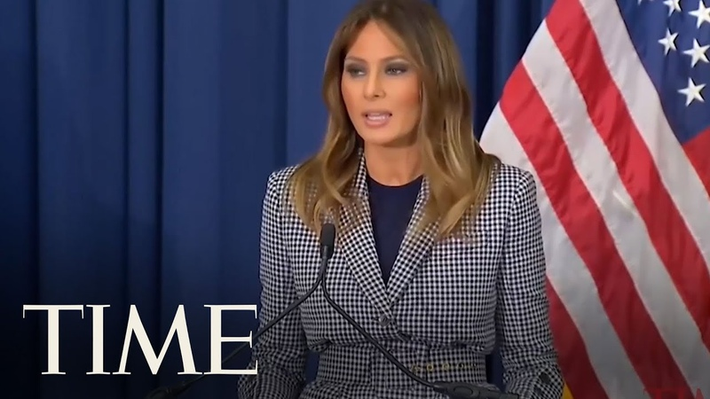 Melania Trump Visits Newborn Victims Of Opioid Crisis Following Plane Malfunction | TIME
