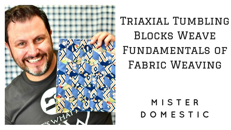 Fabric Weaving Triaxial Tumbling Blocks Weave Fundamentals of Fabric Weaving with Mister Domestic