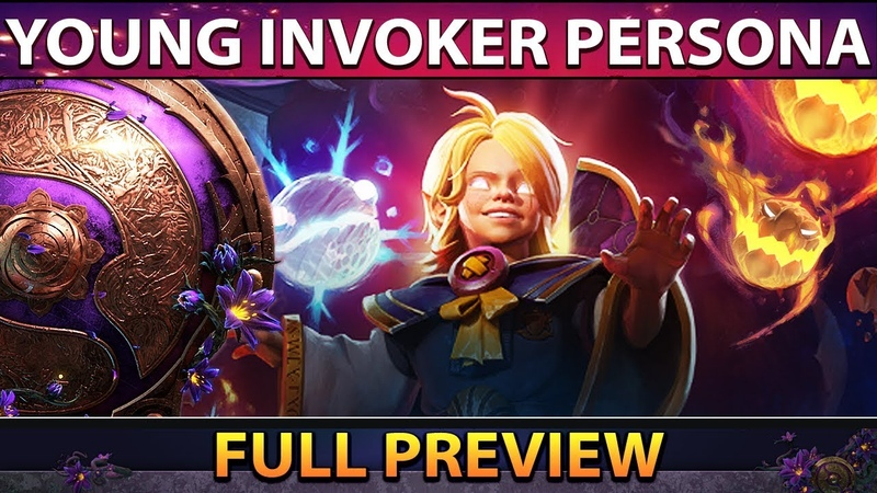 FIRST EVER YOUNG INVOKER HERO PERSONA in Dota 2 TI9 SET FULL PREVIEW ALL SPELLS