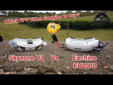 Video Goggles Battle Quadversity Vs Diversity Eachine EV200D Vs SkyZone V3