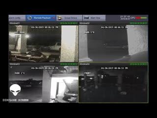Strange light craft picked up on security cameras, arizona april 30 (disclose screen)