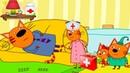 Три Кота Игры в Доктора 1 Поможем Вылечить Котиков мультик для детей про животных УШАСТИК KIDS