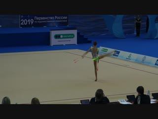 Софья Никеева - булавы (финал) // Первенство России, Казань