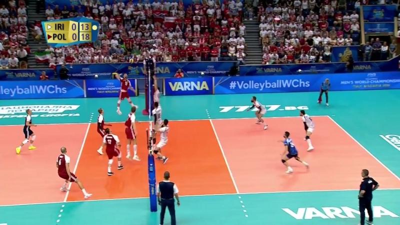17.09.2018. 20:25 - Волейбол. Чемпионат мира. Мужчины. 4 тур. Группа D. Иран - Польша