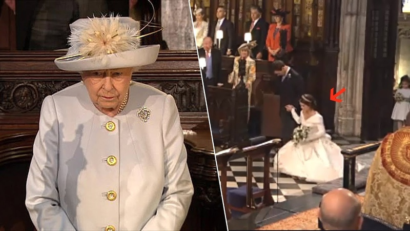 Princess Eugenie performed a curtsy to the Queen on Her Wedding Day