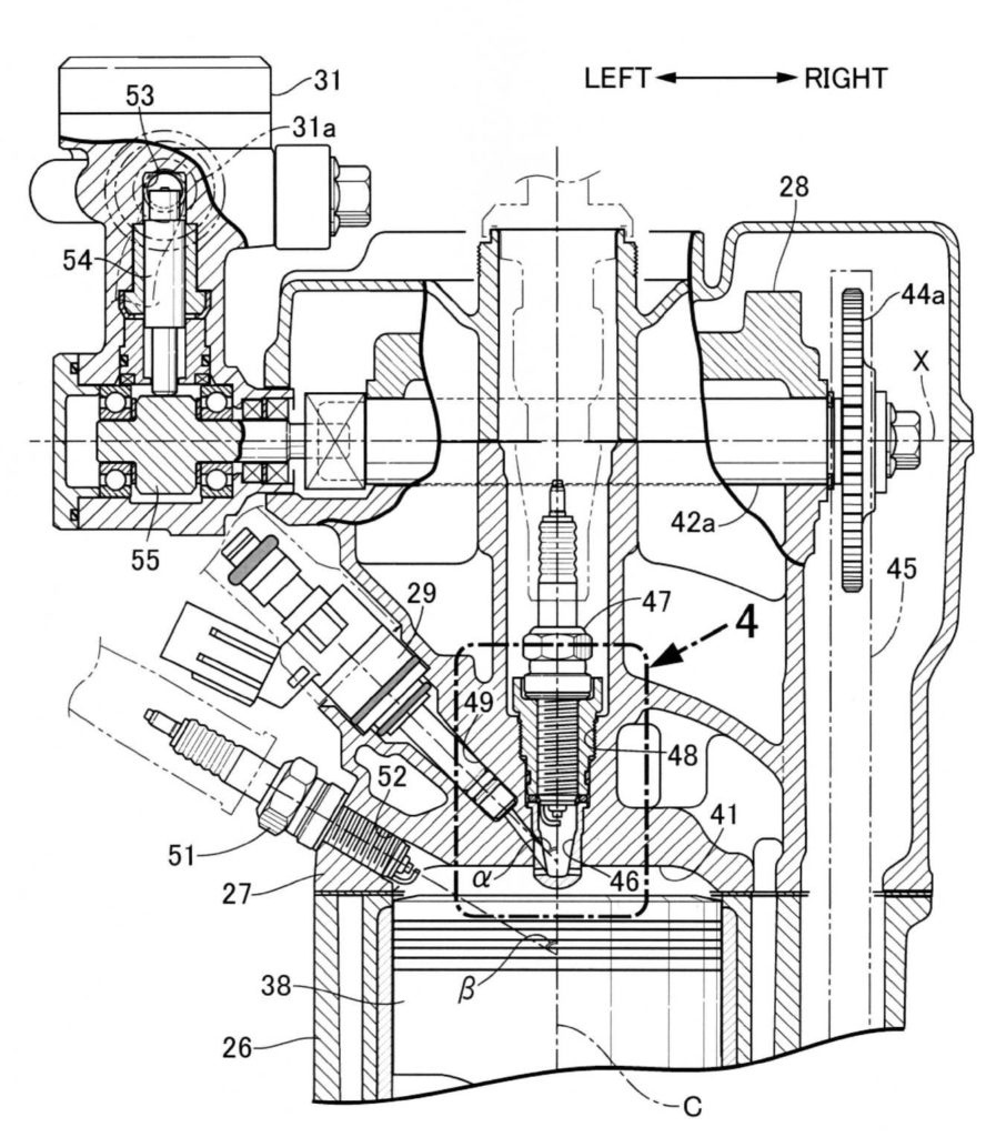 Патенты Honda CRF250L/CRF250 Rally - двигатель Twin-Spark