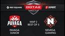 Pavaga Junior vs Nemiga Gaming Map 2 Red Square 5 элемент Dota 2 Open Cup