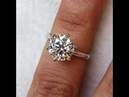 2 carats Classical Diamond Solitaire Palladium Engagement ring from Bangkok, Thailand