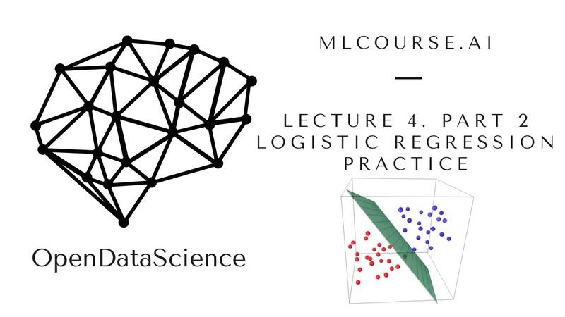 Lecture 4 Logistic regression Practical part Alice