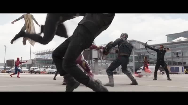 Первый Мститель: Противостояние, сборник всех крутых сцен)