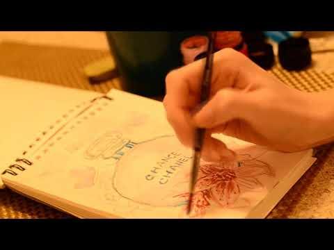 Рисуем скетч духов Shanel