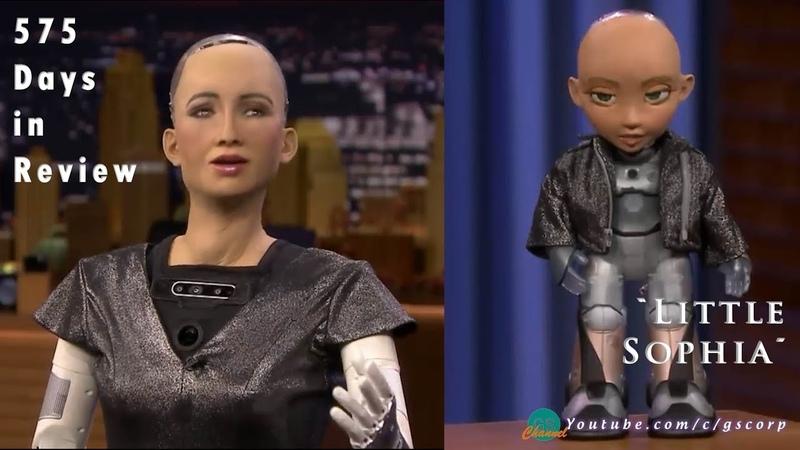 """Robot Sophia tổng kết hơn 1 năm hoạt động và giới thiệu """"Tiểu Sophia"""""""