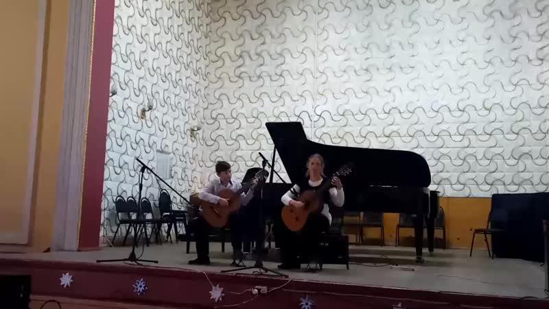 К. Чеченя Левый берег. Дуэт Долженко Иван и Овсюк Анастасия
