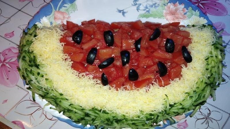 Салат арбузная долька На Кухне у Цыганочки