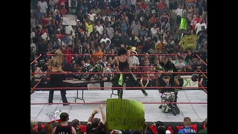 Dudley Boyz Vs Gerald Brisco, TA - 3 On 2 Handicap Table Match - RAW 08.05.2000