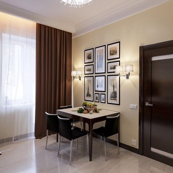 Дизайн интерьера квартиры, 45 кв.