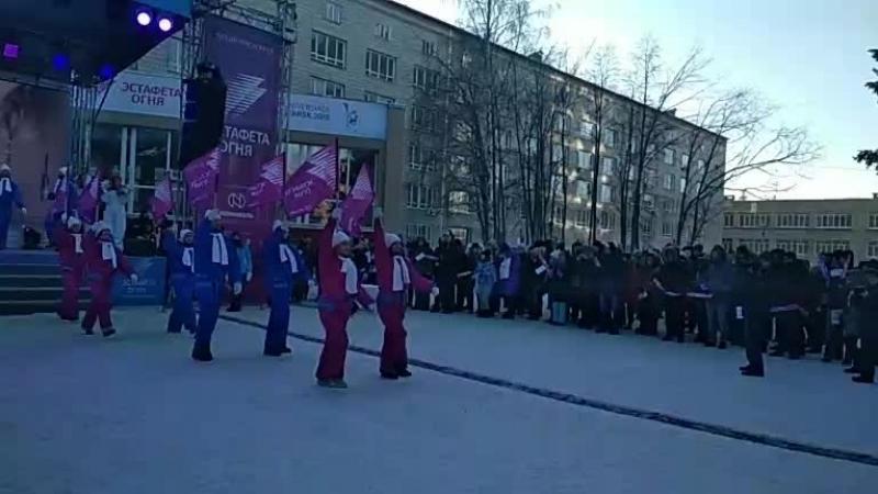 НГС live: эстафета огня Универсиады-2019 в Новосибирске