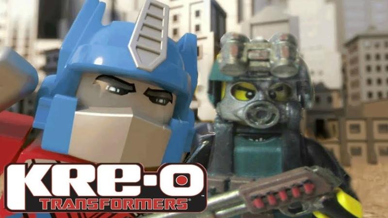 Мультик про КРЕО ТРАНСФОРМЕРЫ Захват енергона KRE O Transformers Лего битва с Бамблби Андрюхой и