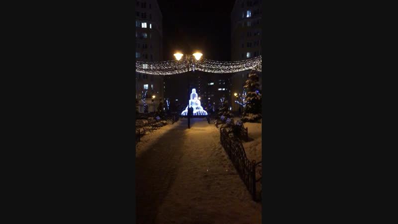 ...новорічний фонтан
