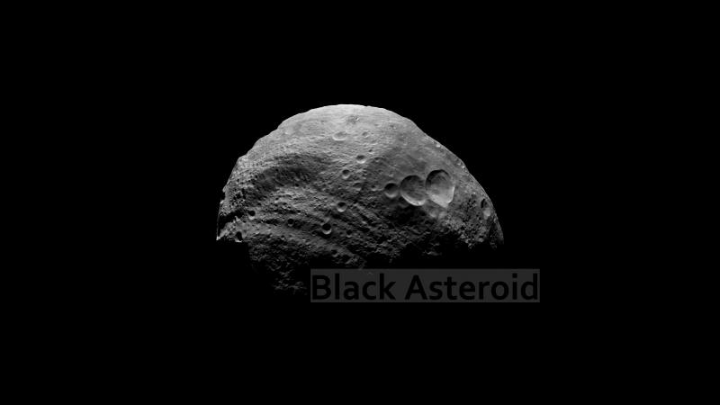 ММ black asteroid