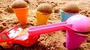Видео для детей с машинками из мультфильма Тачки. Город из песка!