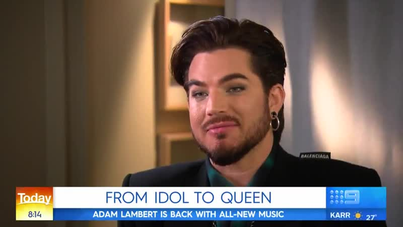 Adam Lambert on Today9 Show, AU - 18062019