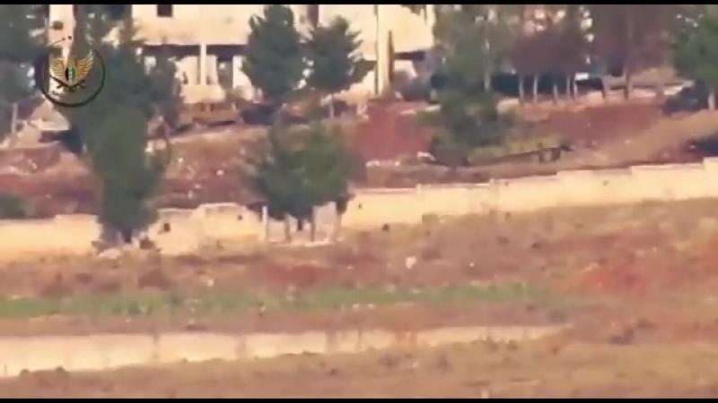 Боевики Джейш аль Изза утверждают что они подорвали танк с ПТУРа. Сирия САА Россия