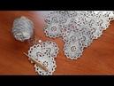 Платье сарафан крючком. Ленточное кружево. Часть 2. Полуцветок.