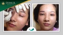 Zoom cận cảnh quá trình phun xăm lông mày cho Lương Thị Hà