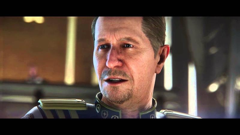 Выступление адмирала Бишопа (актер Gary Oldman) в Сенате Объединенной Земной Империи