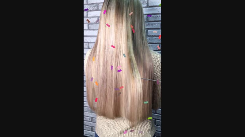 😍😍😍 Наращивание волос 60 см 172 прядки🧜🏻♀️