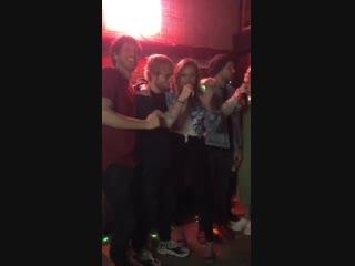 Kelsea Ballerini, Ed Sheeran and Morgan Evans singing