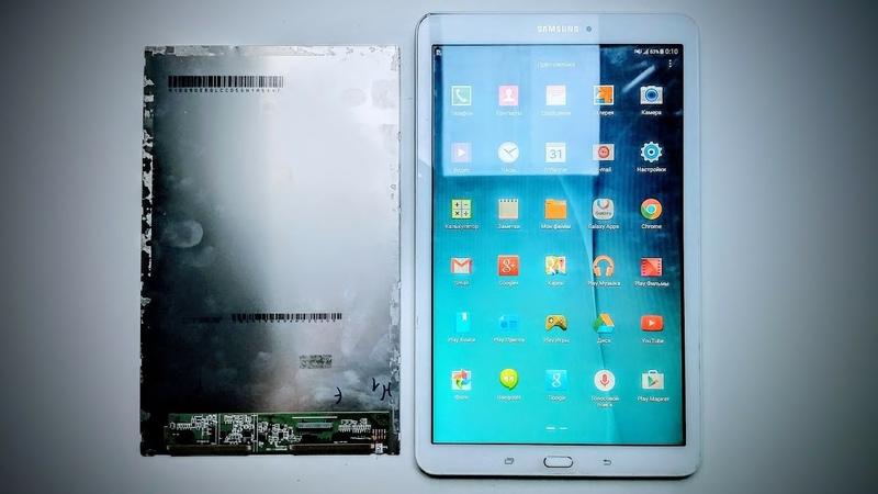Ремонт модуля Samsung Galaxy Tab E SM T561 Полная разборка разделение модуля и замена матрицы