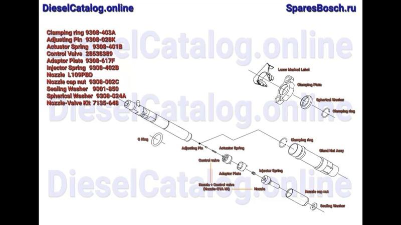 R01001A Форсунка Common Rail DELPHI (CITROEN / SUZUKI) EJBR01001A