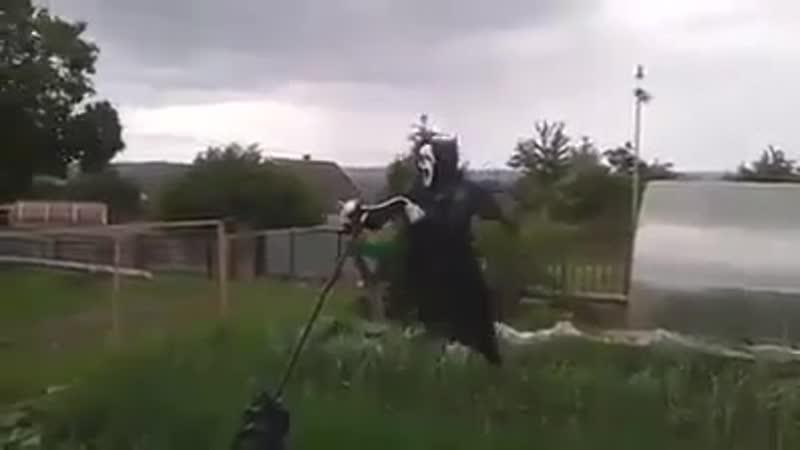 Поставил пугало на огороде соседи бросили пить Бери и Делай