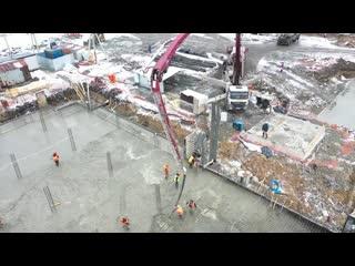Строительство Кемеровского президентского кадетского училища - 2019-03-13 #Кемерово