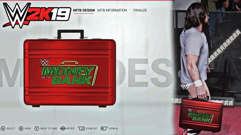 WWE 2K19 Create a MITB Money in the Bank Entrances feat. Daniel Bryan Baron Corbin!