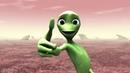 Инопланетянин танцует Зеленый человечек танцует Dame Tu Cosita
