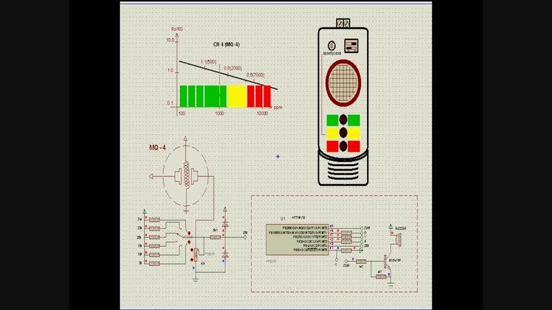 AVR в PROTEUS_е Контроллер для MQ4 на ATtiny13 ...