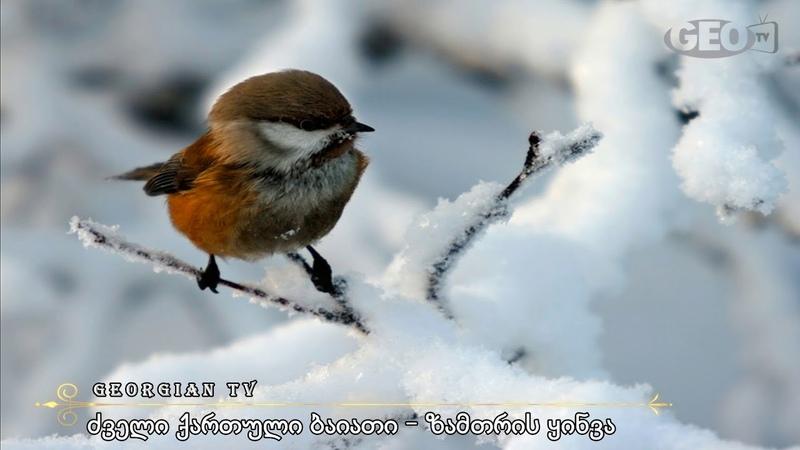 ძველი ქართული ბაიათი – ზამთრის ყინვა არ მაშ