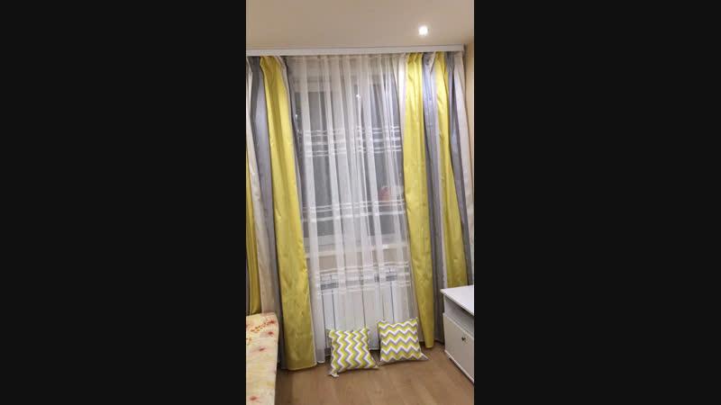 Новые шторы на кухне💛