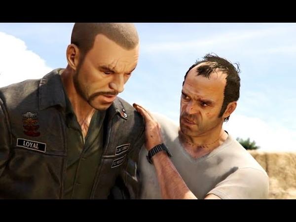 GTA 5 Тревор убивает Джонни лучшие моменты GTA5