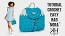 TUTORIAL borsa zainetto ad uncinetto Nora Bag Punto canestro ♡ Katy Handmade