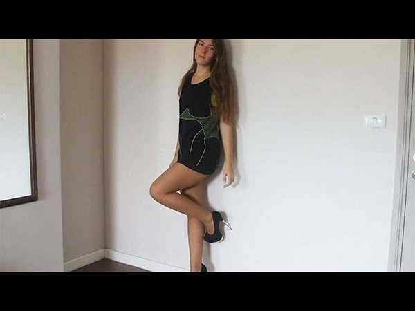 Black'n'Green Mini Dress and Pantyhose Bootygirl Sanya 161225