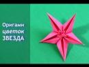 Оригами Цветок Звезда из бумаги